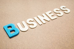Text 'Business' wording on brown background Stock Photography