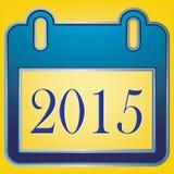 2015 Text  calendar on yellow background Stock Photos
