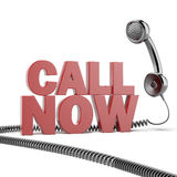 Text call now  and phone Royalty Free Stock Images