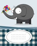 Text card with elephant Stock Images