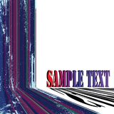 Text card grunge stripes Royalty Free Stock Photo