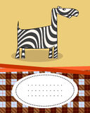 Text card with zebra Royalty Free Stock Image