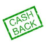 Text cash back in frame rubber stamp. Vector cash back money, insignia cashback imprint illustration Royalty Free Stock Image
