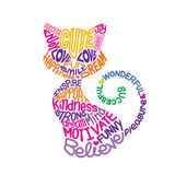 Text into cat shape Royalty Free Stock Photography