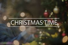 Text Christmas time over conceptual scene Stock Images