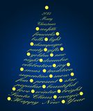 Text christmas tree Royalty Free Stock Image