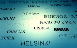 Text cities Stock Photo