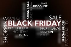 Text cloud Black Friday Stock Photography