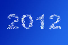 Text clouds sky Stock Photography