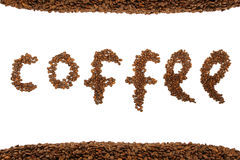Text from coffee beans Royalty Free Stock Photo