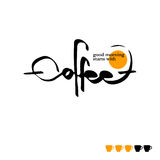 The text coffee written, vector illustration. The calligraphic text coffee written, vector illustration Stock Illustration