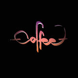 The text coffee written, vector illustration. The calligraphic text coffee written, vector illustration Stock Image