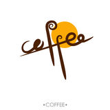 The text coffee written, vector illustration. The calligraphic text coffee written, vector illustration Vector Illustration