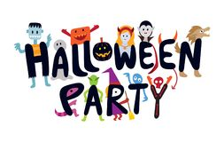 Halloween Monster Characters Party Stock Photos