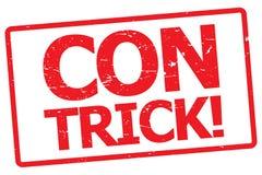 Con trick ! stock illustration