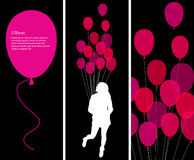 Text Concept And Pink Ballons Royalty Free Stock Photo