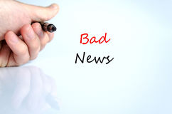 Text concept Bad News Royalty Free Stock Photo