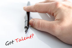 Text concept Got talent? Stock Images
