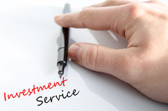 Text concept Investment Service Stock Images
