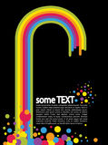Text concept with rainbow and circles. Illustration of text concept with rainbow and circles Stock Photography