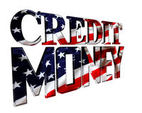 Text credit money on a white background. 3d illustration. Text credit money on a white background Royalty Free Stock Photos