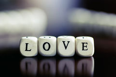 Text cube love Royalty Free Stock Photos