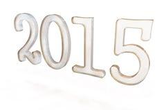 Text 3d 2015 des neuen Jahres Stockfotografie