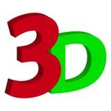 text 3D på vit bakgrund Arkivbild