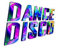 Text dance disco on a white background. 3d illustration. Text dance disco on a white background Royalty Free Stock Image