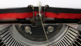 Text dear friend written with the typewriter. On white sheet stock video