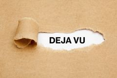 Deja Vu Ripped Paper Concept Royalty Free Stock Photo