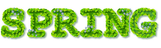 Text dekorativer FRÜHLING Lizenzfreies Stockbild