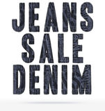 The text of the denim texture Stock Images