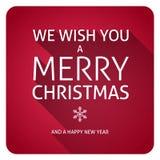 Text der frohen Weihnachten Stockbild