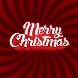 Text der frohen Weihnachten Stockbilder