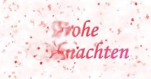 Text der frohen Weihnachten auf Deutsch Stockfoto