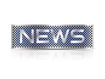 Text der letzten Nachrichten - Geschäftszeichen Lizenzfreies Stockbild