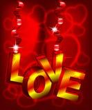 Text der Liebe 3d Stockfoto