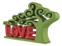 Text der Liebe 3d Lizenzfreies Stockbild