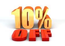 Text 10 der Verkaufsförderung 3D weg Stockfotos