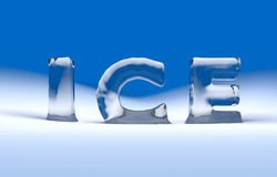Text des Eises 3D Stockbild