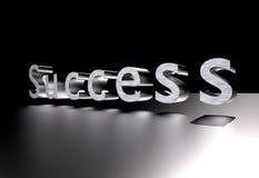 Text des Erfolgs-3D Stockfoto