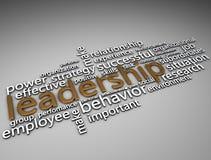 Text des Führungs-Gold 3d Lizenzfreies Stockbild