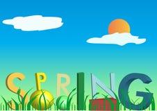 Text des Frühlinges 3D Stockfoto