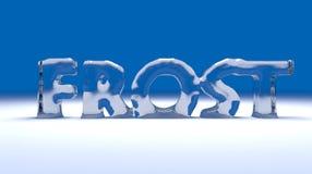 Text des Frosts 3D Lizenzfreie Stockbilder