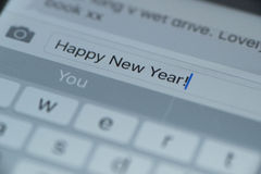 Text des guten Rutsch ins Neue Jahr 2016 Stockbild