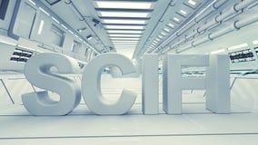 Text des SCIFI 3d Stockfoto