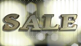Text des Verkaufs-Gold3d lizenzfreies stockfoto