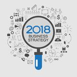 2018 new business success strategy. 2018 text design on creative business success strategy. Concept modern template layoutю 2016 text surrounded by doodle icons royalty free illustration