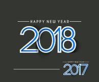 Text-Design des guten Rutsch ins Neue Jahr-2018 - 2017 Stockfotos